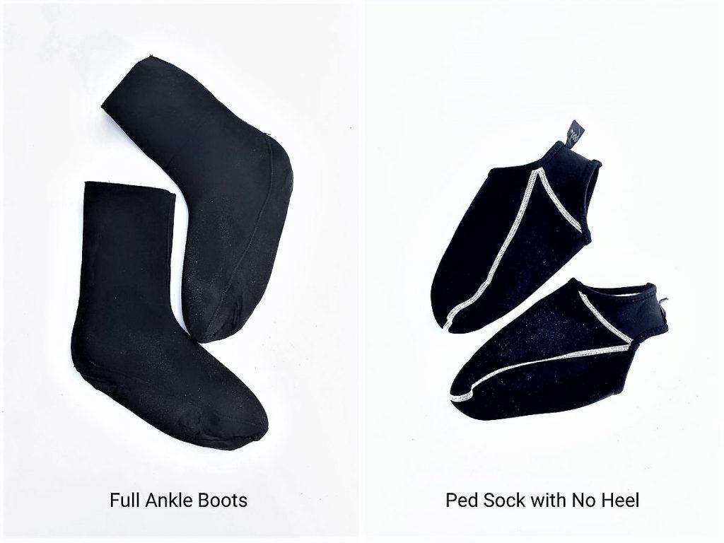 Types of bodyboarding fin socks