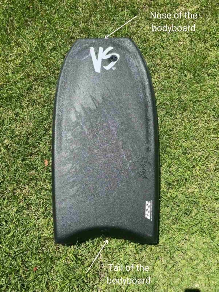 Bodyboard nose and tail