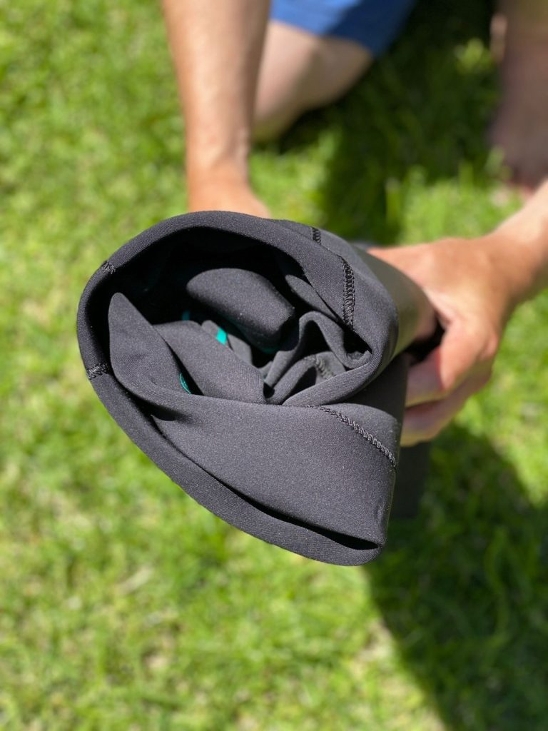How to roll a wetsuit for storage