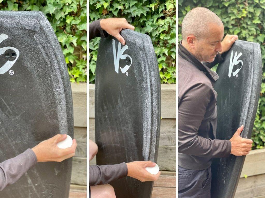 How to apply wax to bodyboard rails