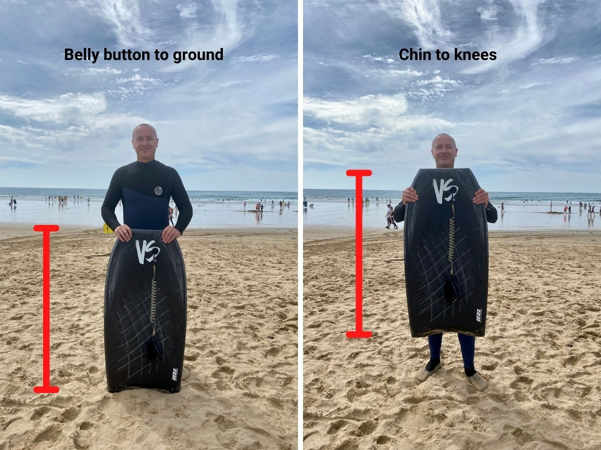 How to measure what size bodyboard to buy