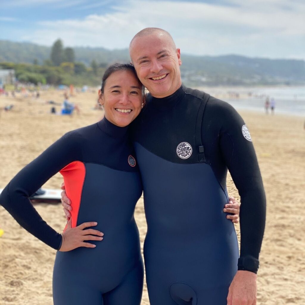 bodyboard101.com Amy and Andrew at the beach